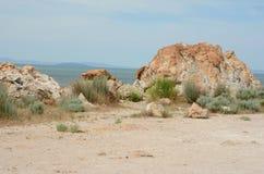 Roches antiques en parc d'état d'île d'antilope Photographie stock libre de droits
