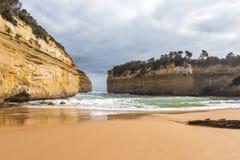 Roches autour de la plage Photos libres de droits