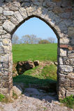 Roches Castle Doorway. Doorway to ruined Castle in County Armagh, Ireland Royalty Free Stock Images