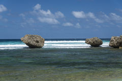 Roches chez Bathsheba Barbados Images stock