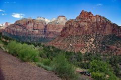 Roches chez Zion National Park Utah Etats-Unis Photo libre de droits