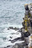 Roches déchiquetées outre de côte de Terre-Neuve photos libres de droits