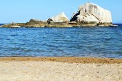 Roches d'île de baie de littoral de tao de kho de l'Asie grandes Photos libres de droits