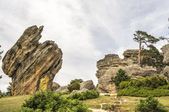 Roches dans Castroviejo, Duruelo de la Sierra, Soria, Castille-Léon, Espagne photo stock
