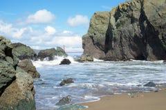 Roches dans l'extrémité de terres, San Francisco Photo stock