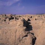 Roches dans la ville antique Image libre de droits