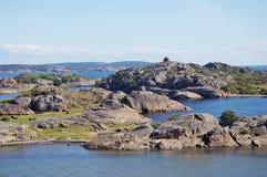 Roches dans Larvik Image stock