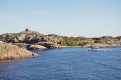 Roches dans Larvik Photos libres de droits