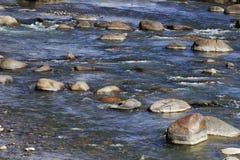 Roches dans le fleuve Image stock