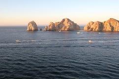 Roches de Cabo à l'aube Images libres de droits