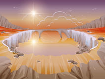 Roches de cascade Photo libre de droits