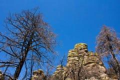 Roches de Chiricahua Photos libres de droits