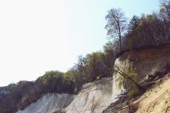 Roches de falaise de craie d'île de Rugen à Sassnitz et à x28 ; Germany& x29 ; photo libre de droits