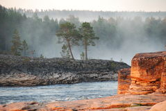 Roches de fleuve Photos libres de droits