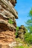 Roches de grès au Palatinat Forest Germany photos libres de droits