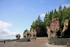 Roches de Hopewell, Nouveau Brunswick Image libre de droits