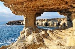 Roches de la Chypre Photos libres de droits