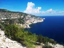 Roches de la Grèce Photographie stock