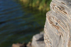 Roches de Lakeside Image libre de droits