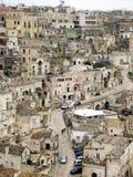 Roches de Matera Photos libres de droits