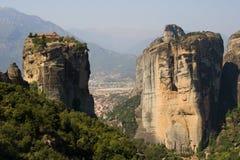 Roches de Meteora Photographie stock libre de droits