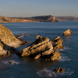 Roches de Mupe et Worbarrow, Dorset, R-U Photo stock