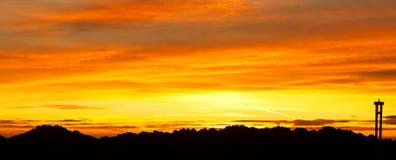 Roches de peignes au coucher du soleil Photo stock