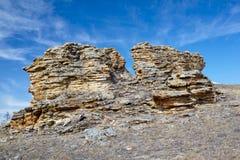 Roches de peluche près de lac Baikal Image stock