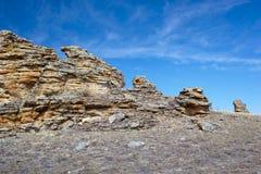 Roches de peluche près de lac Baikal Photographie stock