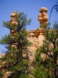 Roches de Pepperpot en parc national de canyon rouge, Utah, Etats-Unis Photographie stock libre de droits