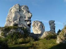 Roches de pierre à chaux Photographie stock libre de droits