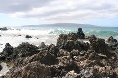 Roches de plage Photos libres de droits