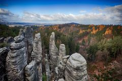 Roches de Prachov dans le paradis de Bohème photo libre de droits