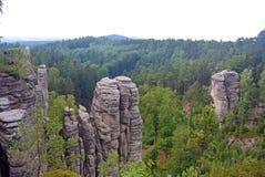 Roches de Prachov de falaises de grès dans la République Tchèque Photo libre de droits