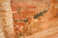 Roches de rouge de Bryce de canyon Photos stock