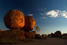 roches de rouge de marbres de diables Image libre de droits