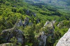 Roches de Sulov et montagnes, Slovaquie Image libre de droits