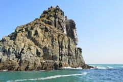 Roches des îles d'Oryukdo à Busan, Corée du Sud Image libre de droits