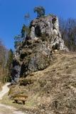 Roches en Bavière franconienne Allemagne de la Suisse photo libre de droits