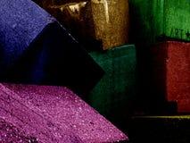 Roches en couleurs Photographie stock