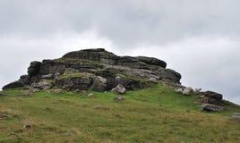 Roches en parc national de Dartmoor Image libre de droits