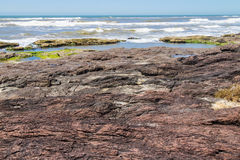 Roches en plage de Guarita chez Torres Photos libres de droits