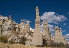Roches en vallée d'amour, Cappadocia Photos stock