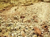 Roches et cailloux sur la plage Images libres de droits