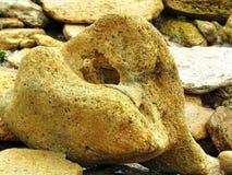 Roches et cailloux sur la plage Photographie stock