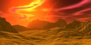 Roches et ciel illustration 3D images libres de droits