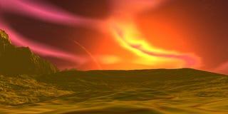 Roches et ciel illustration 3D photo libre de droits