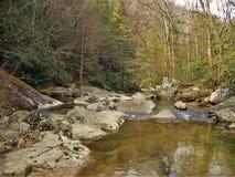 Roches et eau au parc d'état du sud de montagnes image libre de droits