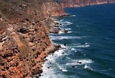 Roches et eaux de cap de Kaliakra Photographie stock libre de droits