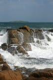 Roches et île 15 Image libre de droits